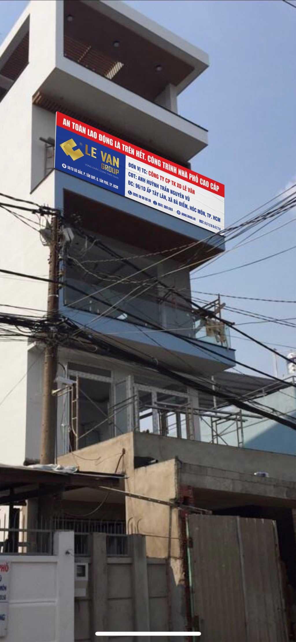 Công trình nhà phố cao cấp anh Huỳnh Trần Nguyễn Vũ tại Hóc Môn