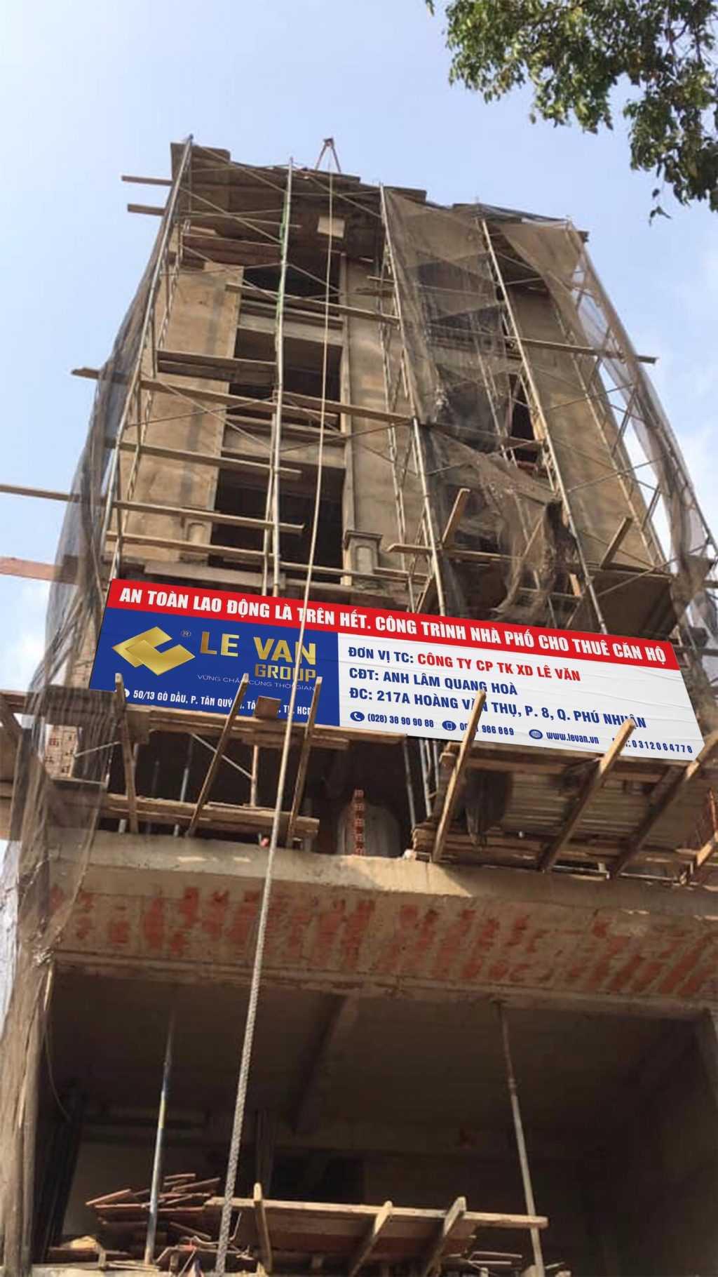 Công trình nhà phố anh Lâm Quang Hà tại Quận Phú Nhuận