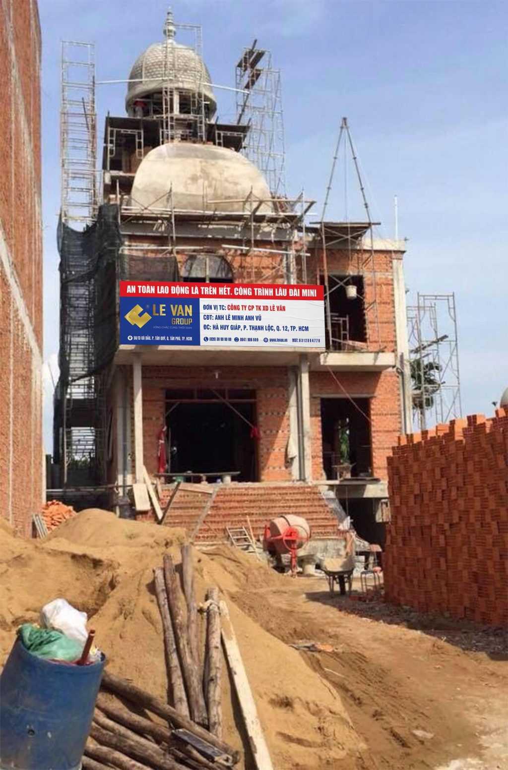 Công trình lâu đài mini anh Lê Minh Anh Vũ tại Quận 12