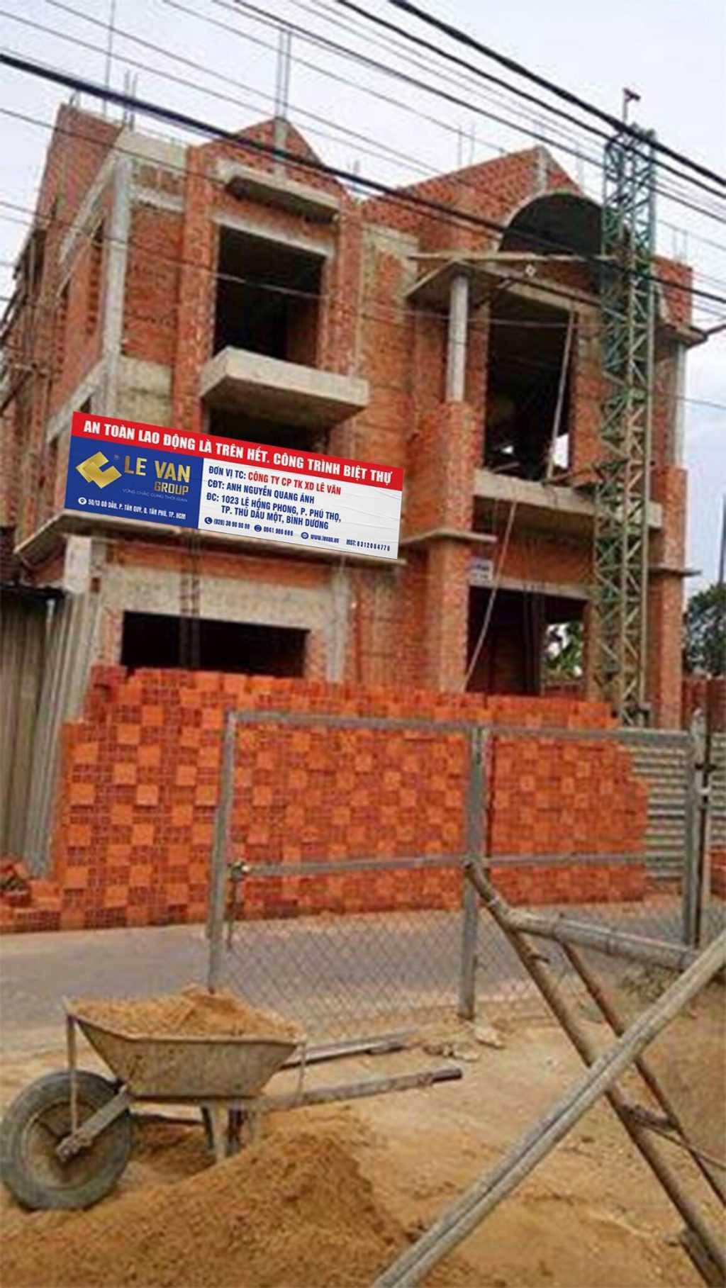 Công trình biệt thự anh Nguyễn Quang Ánh tại Bình Dương