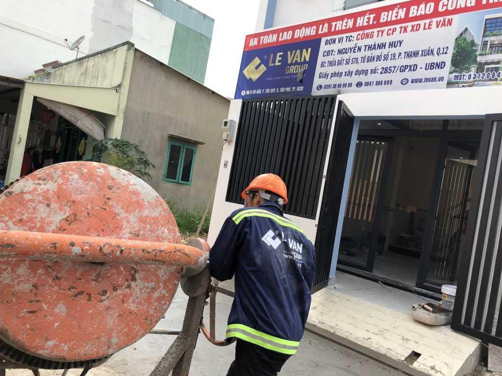 Công trình nhà phố anh Nguyễn Thanh Huy tại Quận 12