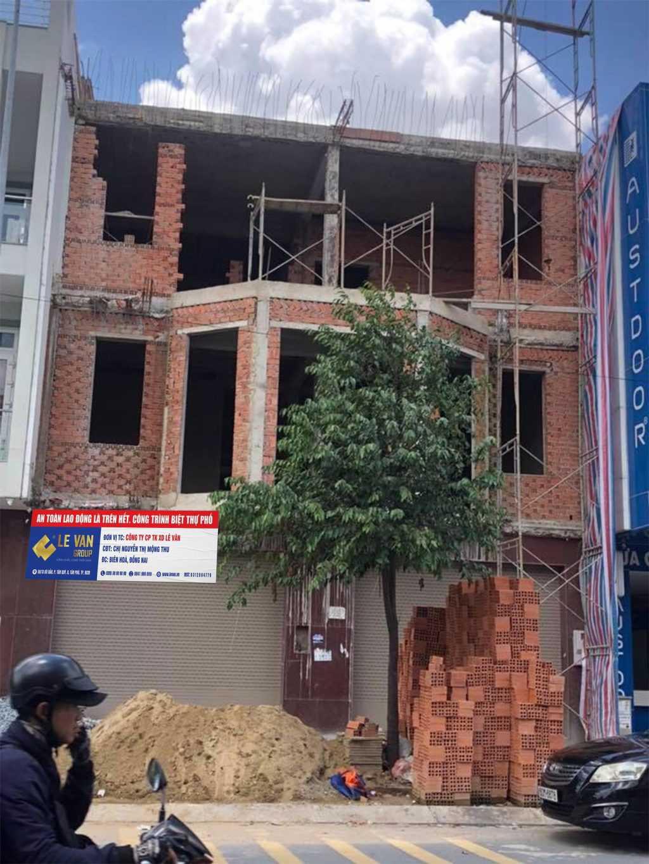 Công trình biệt thự phố chị Nguyễn Thị Mông Thu tại Đồng Nai