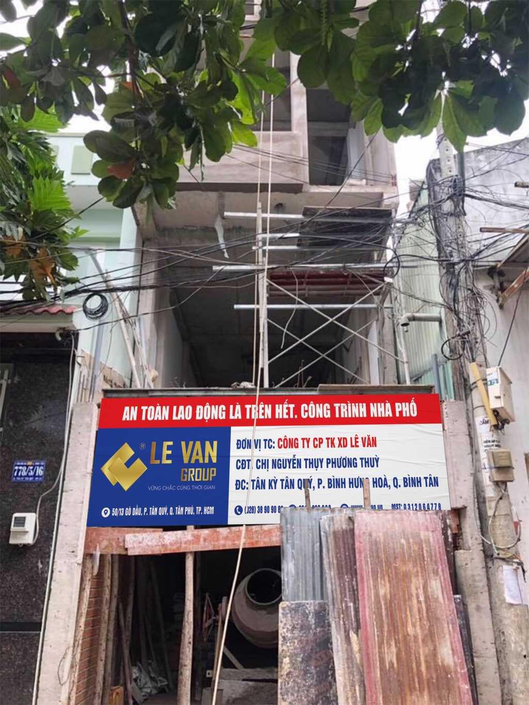Công trình nhà phố chị Nguyễn Thị Phương Thùy tại Quận Bình Tân
