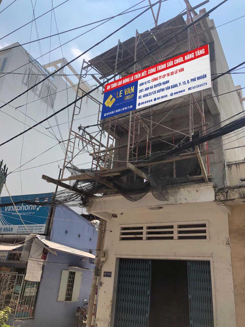 Công trình sửa chữa, nâng tầng anh Hà Duyên Hạnh tại Phú Nhuận