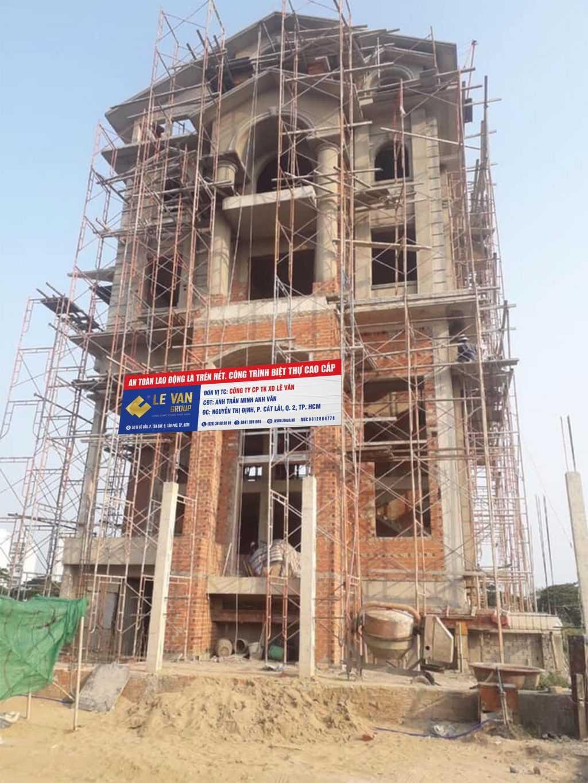 Công trình biệt thự cao cấp anh Trần Minh Anh Văn tại Quận 2