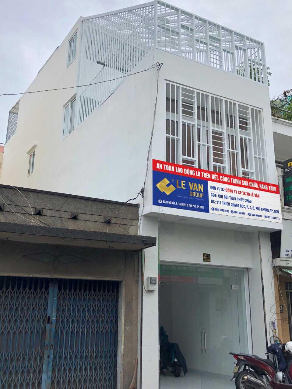 Công trình sửa chữa, nâng tầng chị Bùi Thụy Thuỳ Châu tại Phú Nhuận