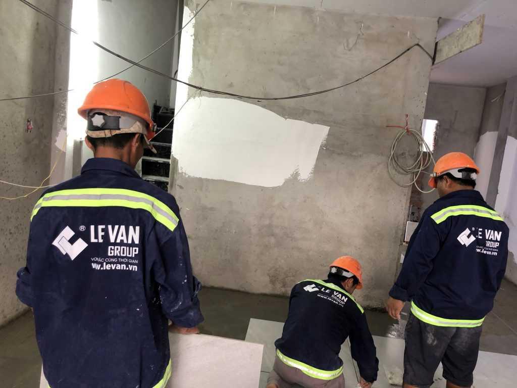 Công trình sửa chữa, nâng tầng chị Bùi Thụy Thuỳ châu