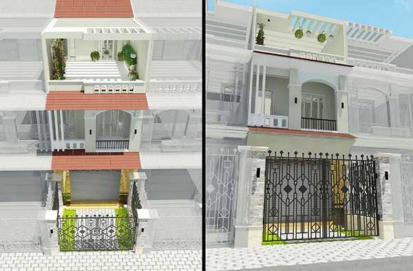 Thiết kế nhà phố 2