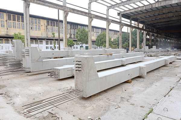 Xây nhà xưởng bằng vật liệu bê tông cốt thép