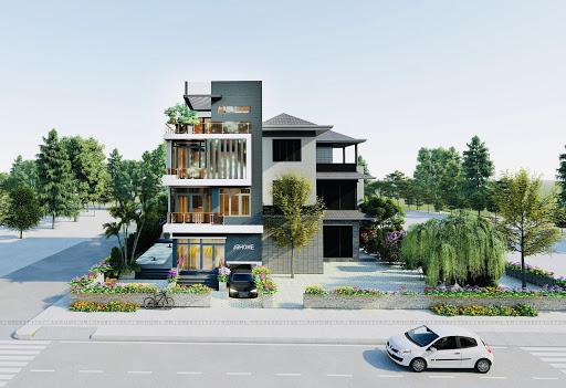 Những căn villa hiện đại thường được thiết kế nhiều tầng để tận dụng tối đa được không gian