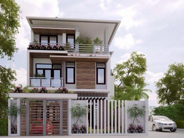 Biệt thự phố với thiết kế hiện đại và tiết kiệm không gian sống
