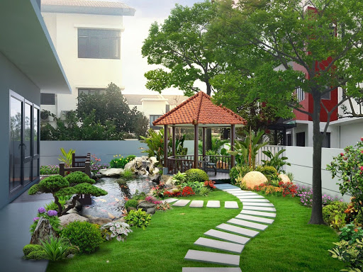Biệt thự sân vườn có không gian thoáng đãng, trong lành!