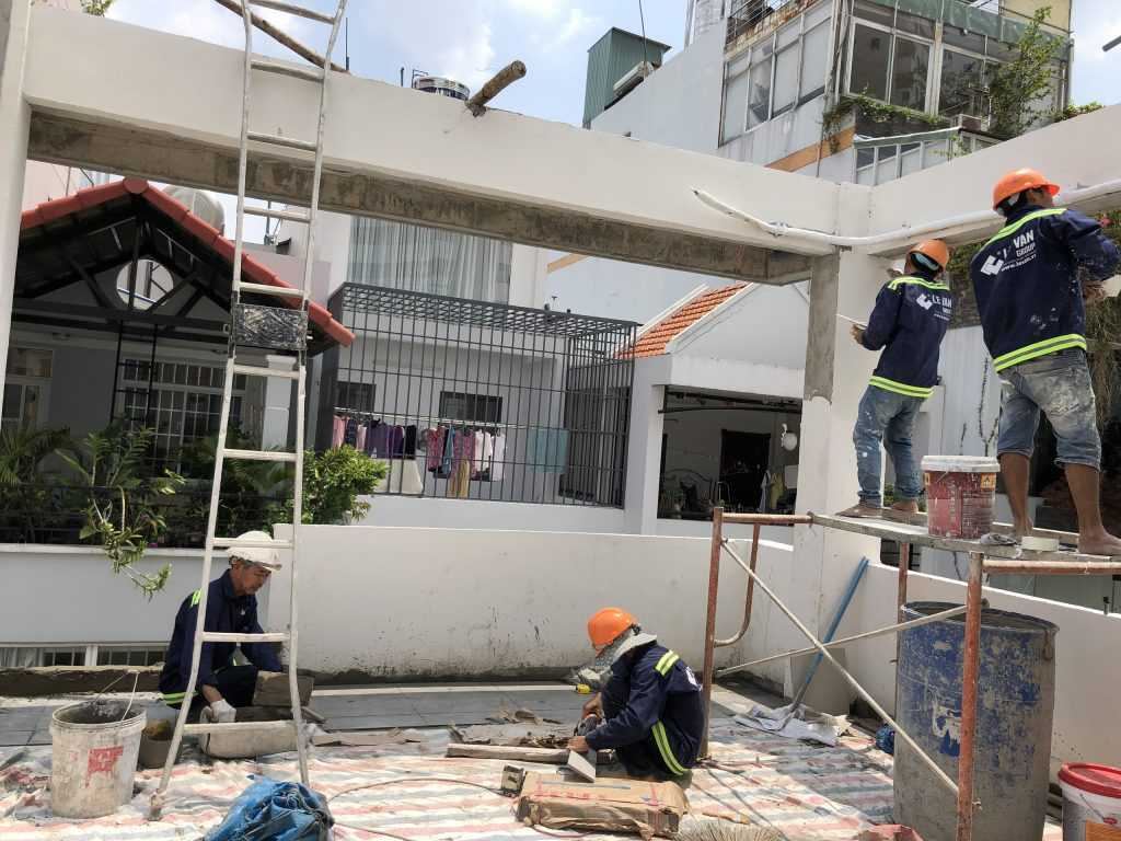 nhân công xây dựng nhà phố