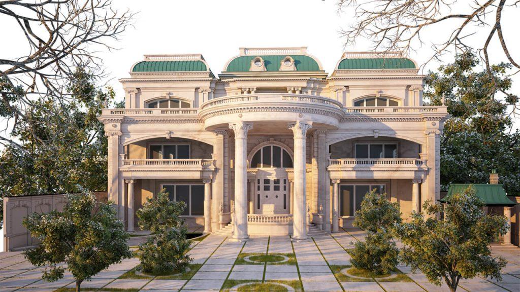 Biệt thự cổ điển mang trong mình nét cao quý, cổ kính