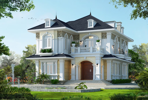 Mẫu biệt thự phong cách hiện đại kết hợp mái thái đang được nhiều khách hàng quan tâm