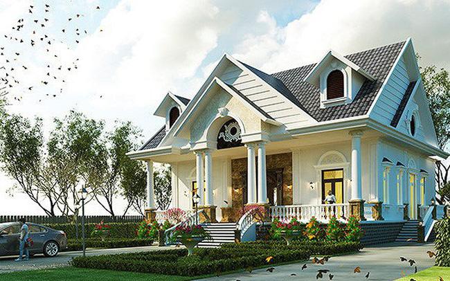 Biệt thự mái thái 1 tầng kết hợp sân vườn đẹp