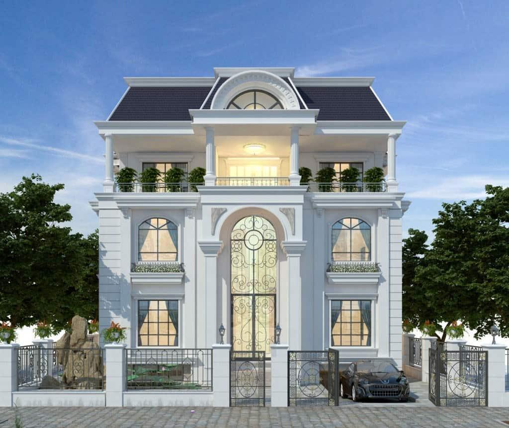 Biệt thự 3 tầng với thiết kế cửa kính và hệ thống ánh sáng tạo cảm giác ấm áp