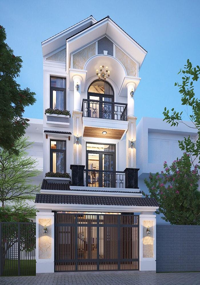 Thiết kế biệt thự nhà phố phong cách hiện đại đầy đủ tiện nghi và tiết kiệm