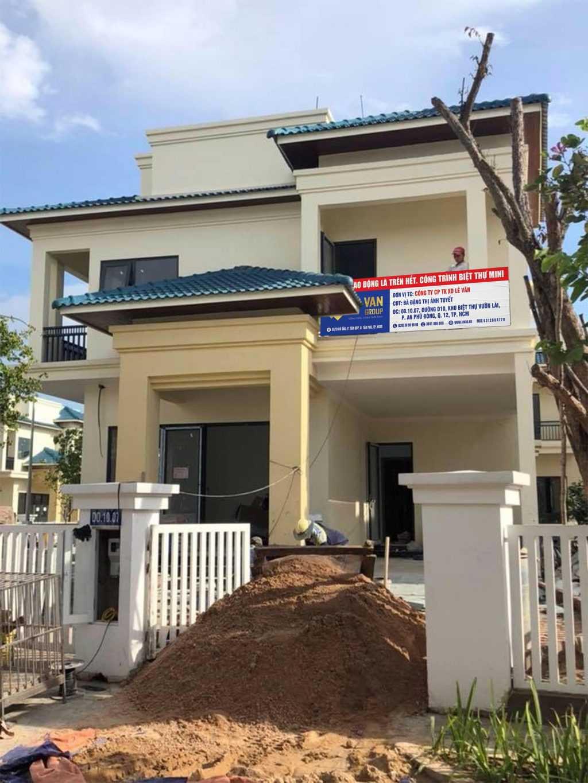 LE VAN GROUP thi công xây biệt thự mini cho bà Đặng Thị Ánh Tuyết tại quận 12