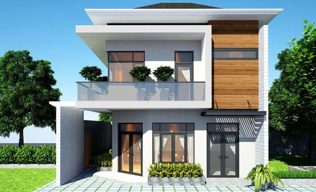 Cận cảnh các mẫu nhà mặt tiền 8m 2 tầng hiện đại