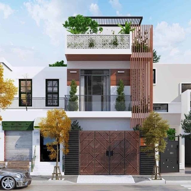 Những nhà phố 2 tầng 1 tum hiện đại phù hợp cho các gia đình trẻ