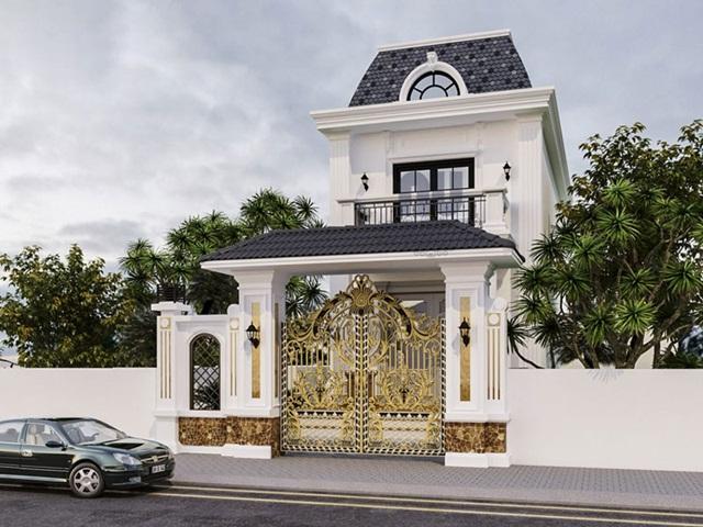 Tổng hợp những mẫu nhà phố tân cổ điển 2 tầng đẹp nhất năm 2021